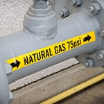 Pipe markers Natural Gas