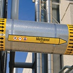 Pipe markers XL Methanol